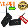 V6 Pró Par Intercomunicador Moto Bluetooth Wifi Capacete