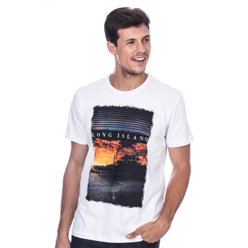 Camiseta Long Island Pier Branca