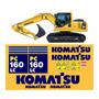 Kit Adesivos Escavadeira Komatsu Pc 160 Lc Etiquetas Mk