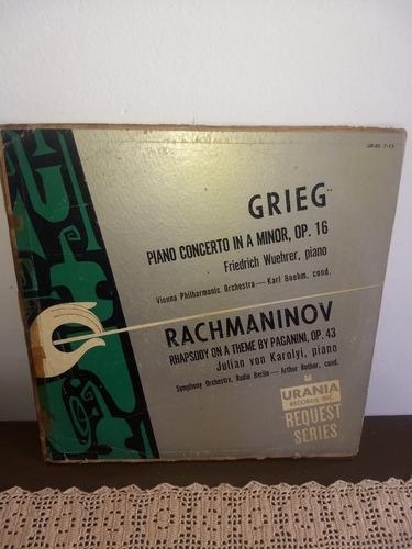 Lp Grieg - Piano Concerto In A Minor Usa 1958 Original