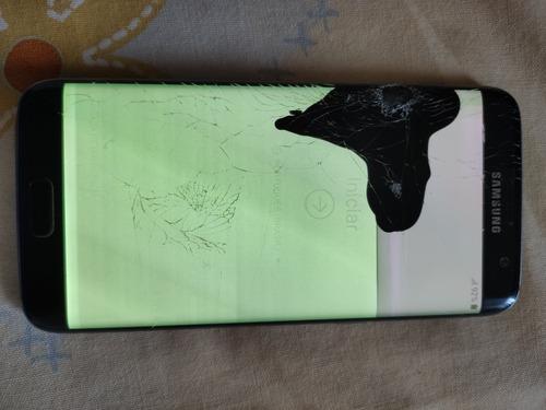 Celular Samsung S7 Edge 32gb Tela Quebrada Com Nf Original
