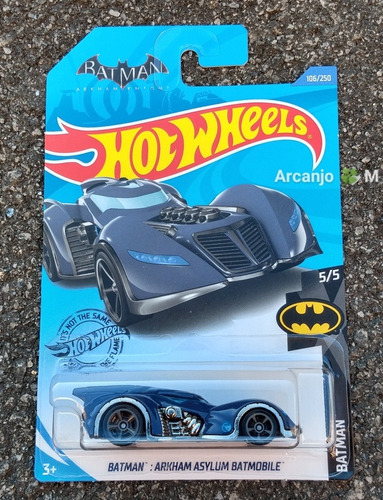 Hot Wheels Batman Arkham Asylum Batmobile T-hunt Temáticos Original