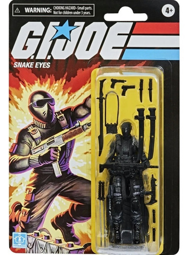 Snake Eyes G.i. Joe Retro O Cobra Comandos Em Ação Original