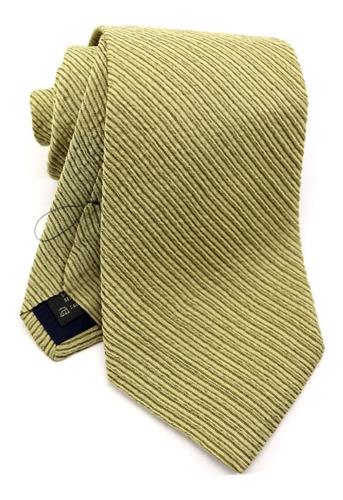 Gravata Italiana Seda Pura Dourada Listrada Casamento B0352 Original