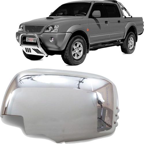 Aplique Cromado Do Retrovisor L200 Triton Pajero Dakar 08 Le Original