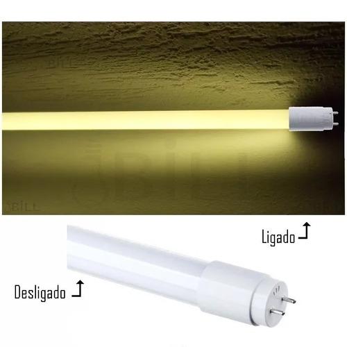 Lâmpada Tubo Led T8 9w Branco Quente 3000k Tubular Anuncio Com 10 Peças - Substitui A Fluorescente De 20w De 60cm Original