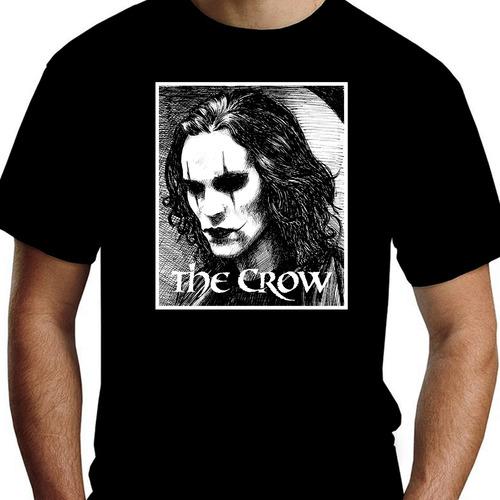 Camiseta Básica Unissex Preta Algodão 100% O Corvo - Mod. 4 Original