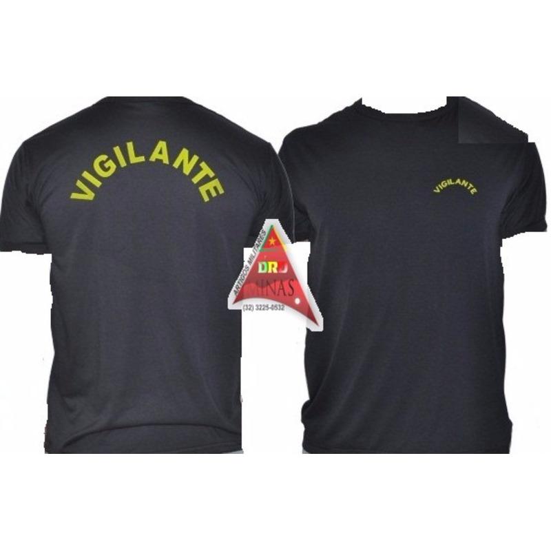 Camisa Preta Vigilante -  Preta  Bordada