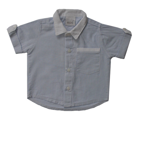 Camisa Masculina Branca E Azul Bebê Original