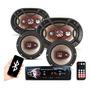 Kit Som Automotivo Player Bluetooth Falante Bravox 6 6x9