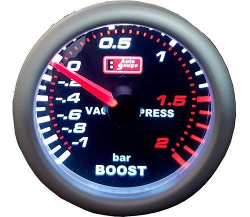 Auto Gauge Pressão De Turbo 2 Bar 52mm Serie Smoke Original