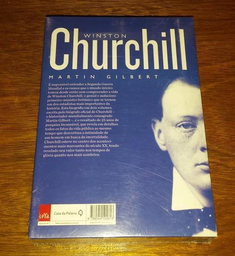 Winston Churchill Uma Vida Volume 1 + 2 Martin Gilbert Novo