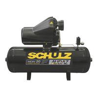 Compressor estacionário Audaz C/ Pressostato de partida MCSV20 150 Litros 4 polos 60hz 5cv 220V 922.