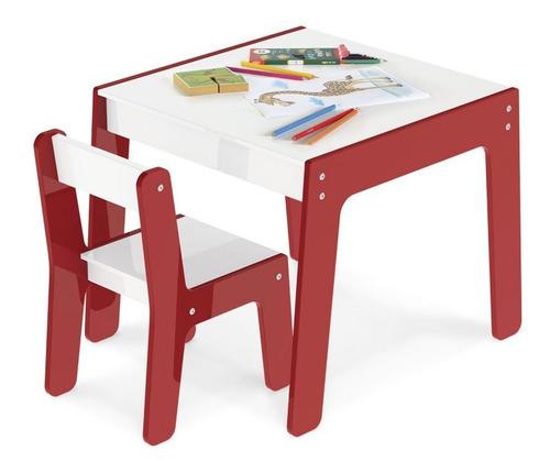 Brinquedo Conjunto Mesa E Cadeira Infantil Vermelho - 991 Original