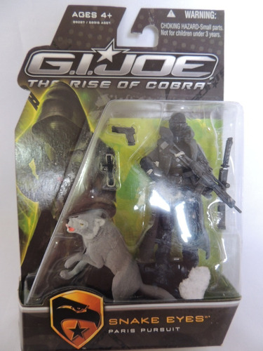 Gi Joe - Snake Eyes - Rise Of Cobra  -hasbro (o-5) Original