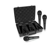 Kit 3 Microfones Behringer Xm 1800s + Maleta Suporte Xm1800