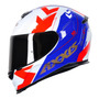 Capacete Moto Axxis By Mt Eagle Diagon Tricolor