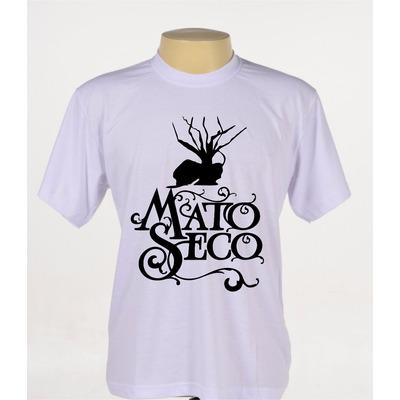 Camisas Camisetas Banda Mato Seco Reggae Manga Curta Branca em Alagoinhas