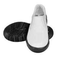 Sapato de Segurança Branco com Fechamento em Elástico Vaqueta Bota Brasil com Bico PVC  210-34