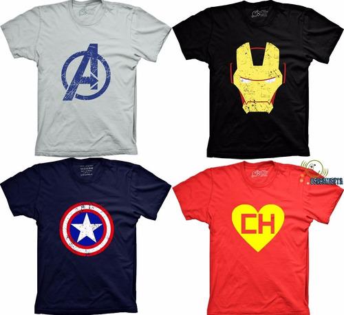 Comprar Camiseta Engracada Super Herói Banda Rock Game Personalizada ... a3769abd0c7
