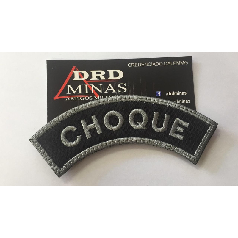 Patch / Distintivo Bordado Choque