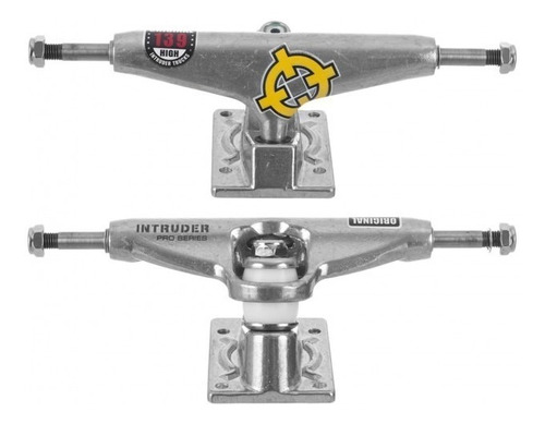 Truck Skate Intruder 139mm Hi Silver Pró Series Paraf Vazado Original