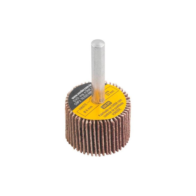 Roda de Lixa 30mm x 20mm com Haste Grão 80 Vonder