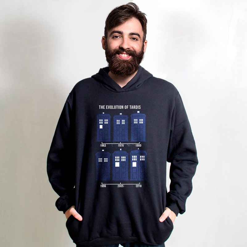MOLETOM PRETO - EVOLUTION OF TARDIS
