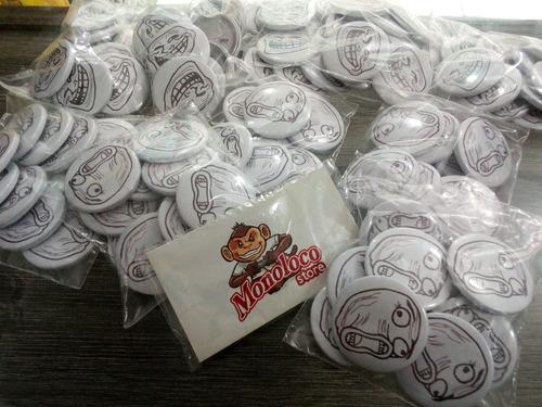 100 Bottons Buttons Pins Broches 3,8 Cm Personalizado Button