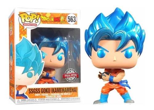 Funko Pop Goku Azul Sssgss Kamehameha Original