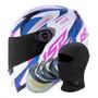 Capacete Moto Feminino Ls2 Ff358 Draze Rosa viseira Extra