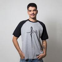 CAMISETA RAGLAN CINZA - FX