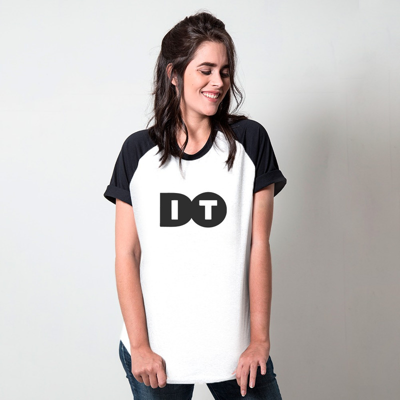 CAMISETA RAGLAN BRANCA - DO IT