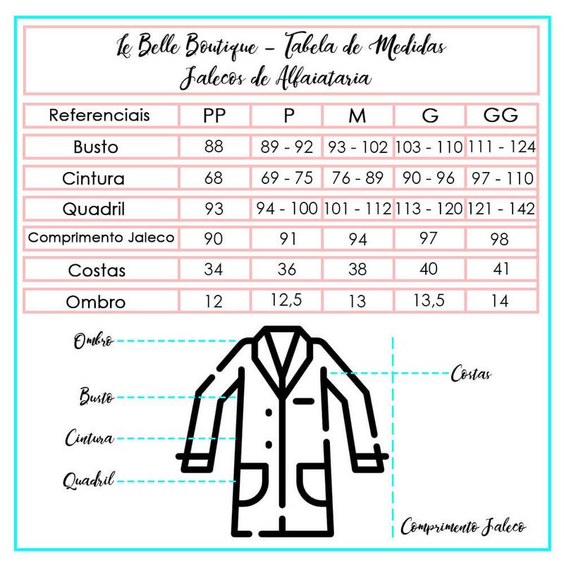 JALECO DE ALFAIATARIA Dra. ELIZABETH BLACKWELL ARABESCO - JR000111
