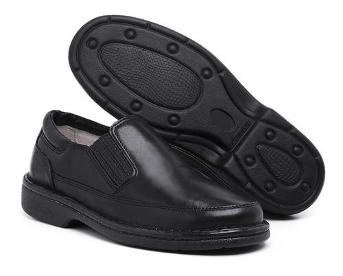 Sapato Anti Stress Ortopédico Masculino Em Couro Confortável Original