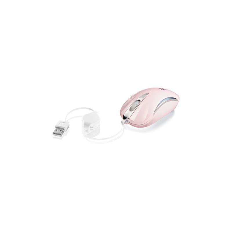 MOUSE USB MINI RETR MS3207-2 ROSA/PRATA C3T