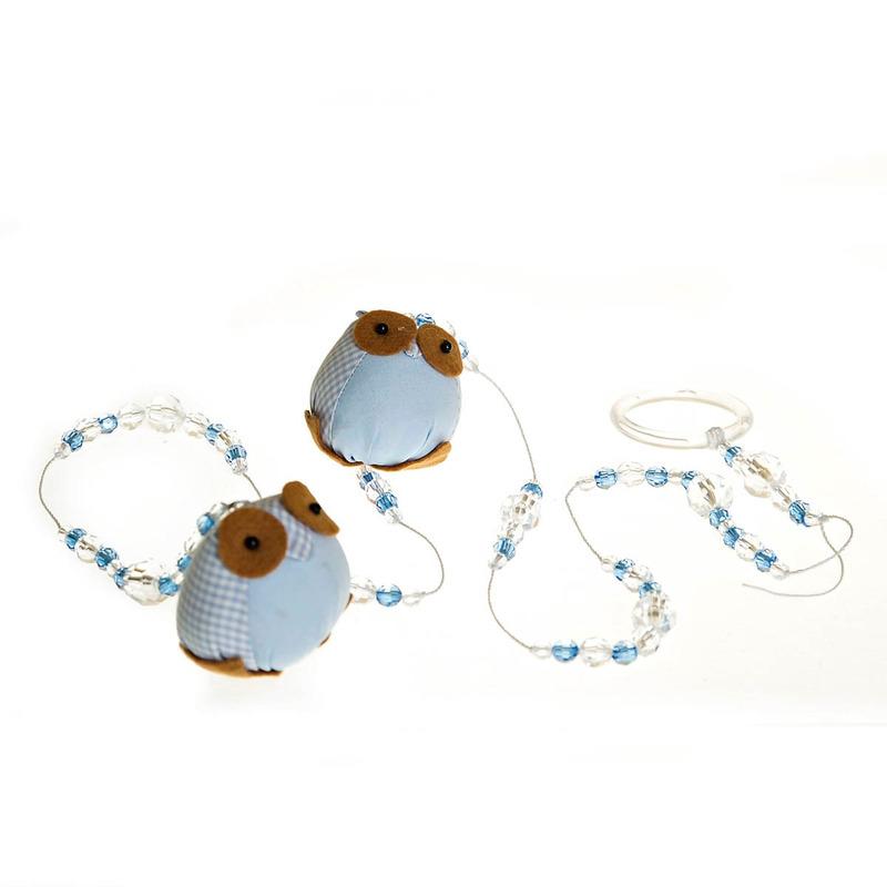 Pingente De Cortina Coruja Azul (Unidade)