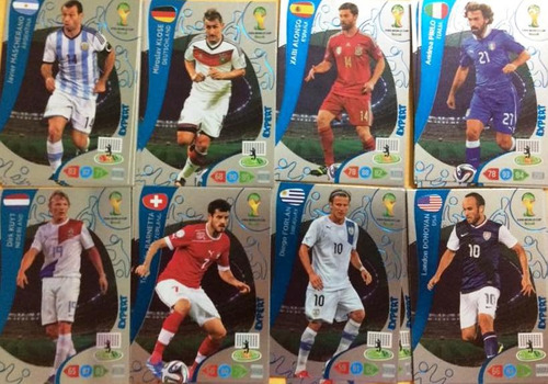 8 Cards Expert - Adrenalyn Copa 2014 - Panini Original