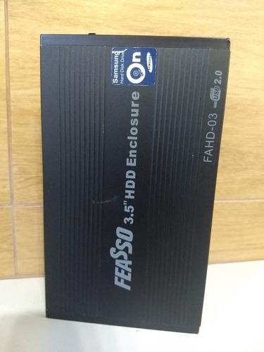 Case De Alumínio Com Usb 2.0 E Hd De 1 Terá Samsung Sata Original