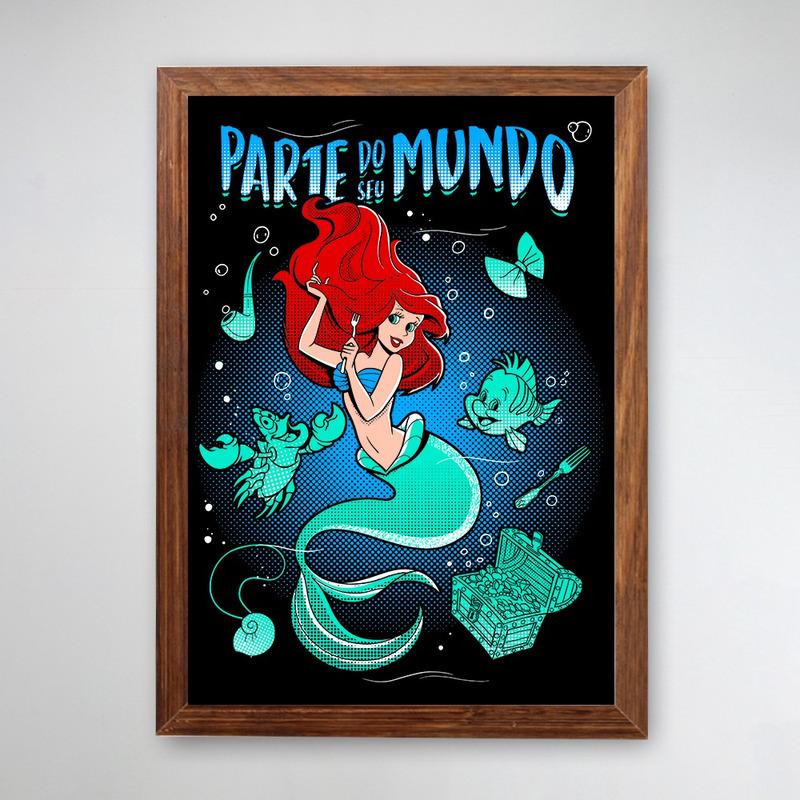 PÔSTER COM MOLDURA - SEU MUNDO