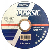 Disco de Corte Inox AR102 Norton 115 x 1,0 x 22,23