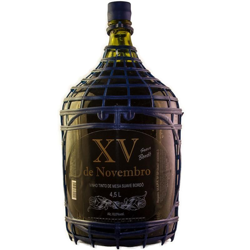 Vinho Tinto Suave Bordô 4,5 L - XV de Novembro