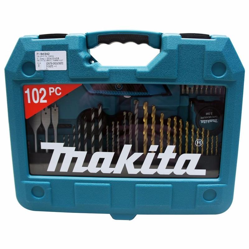 Kit de Acessórios Makita com 102 peças para Furadeiras