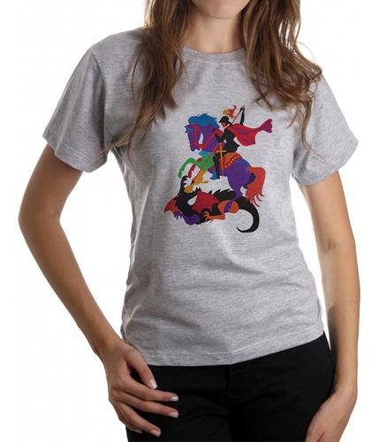 T-shirts Feminina Estampada São Jorge Slc2445 Original