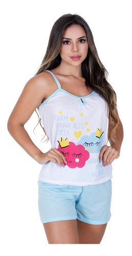 Kit 10 Pijama Feminino Adulto Blusinha Regata Alça E Short Baby Dool Atacado Melhor Preço Pijaminha Revenda Barato Original