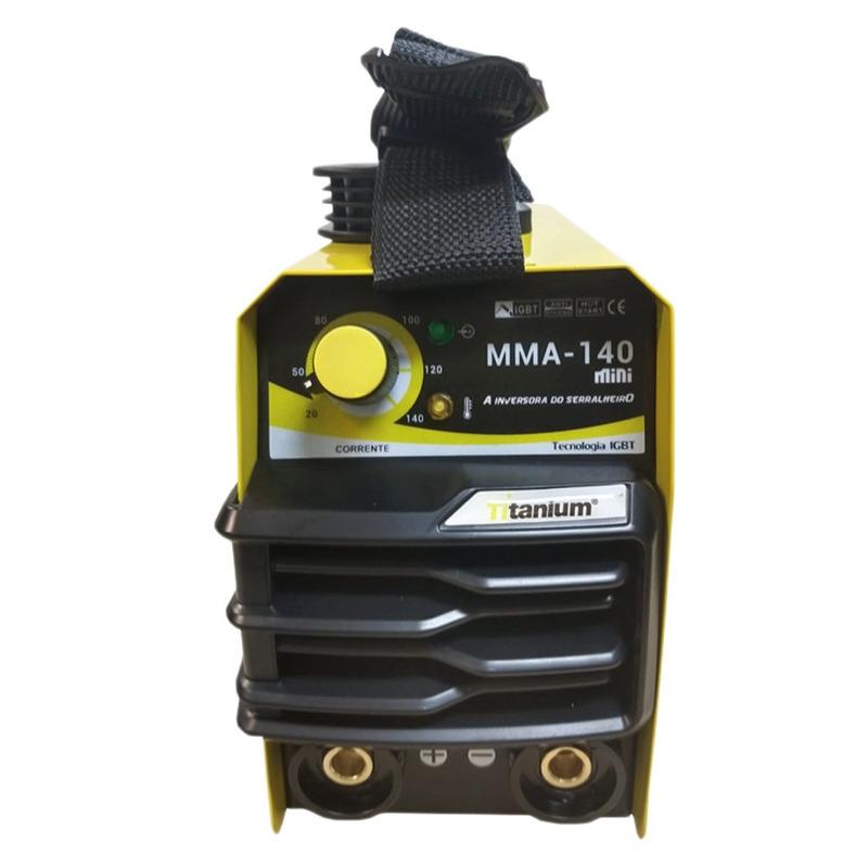 INVERSORA DE SOLDA 140AMP MINI TITANIUM 220V + MÁSCARA AUTOMATICA