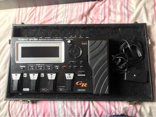 Pedaleira Gr55 + Gk3 + Cabo 13 Pinos + Case. Boss Roland Original
