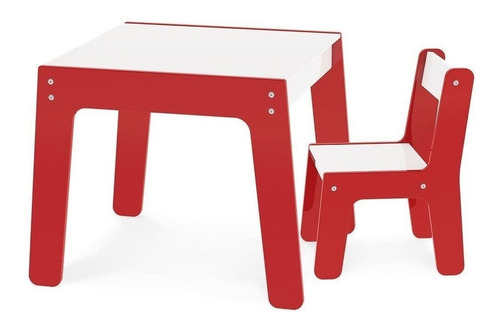 Conjunto De Mesa E Cadeira Infantil Em Mdf Original