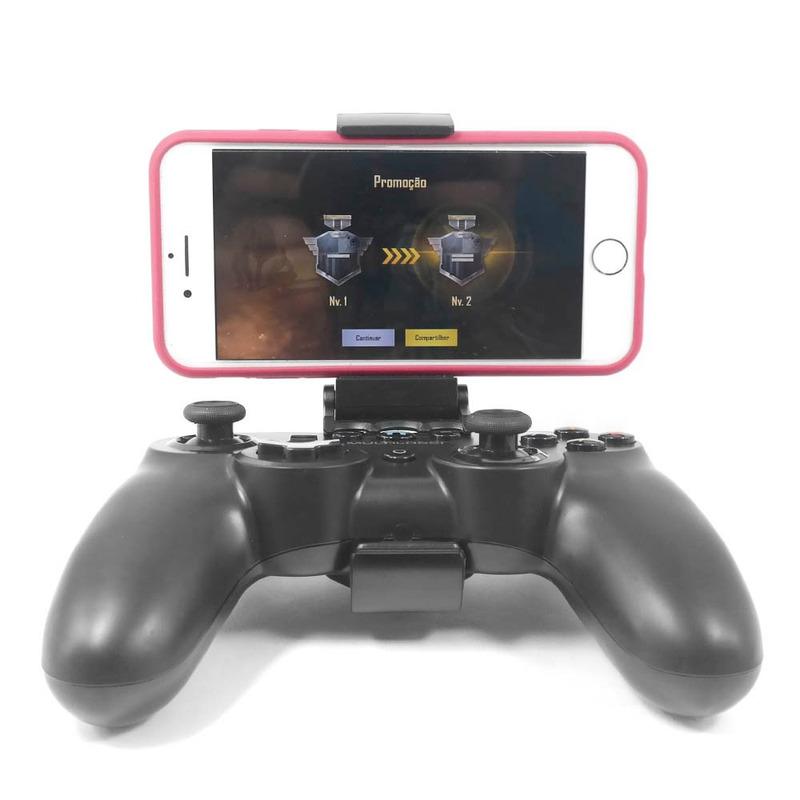 Controle Gamer Sem Fio com Bluetooth e USB Warrior Multilaser - JS084