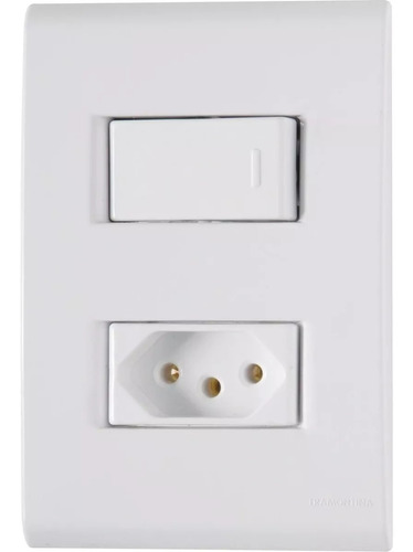 Conjunto Interruptor Simples + Tomada 10 Amp Liz Tramontina Original